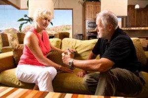 Couple Discussing Getting Divorced